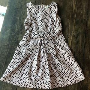 Kate Spade pink dot bow dress 12Y 12